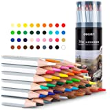 deli Watercolor Pencils set for Adults & Kids, Tin of 36 plus a brush