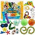 Sensory Fidget Toys 23-Pack – Stress Relief Toys for Focus & Calm – Toy Box & Party Favor Pack + Reusable Bag – Fidget Spinne