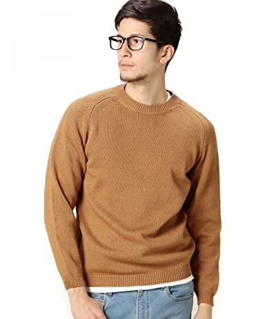 Middle Gauge Cotton Crewneck Sweater 1213-105-3073: Gold