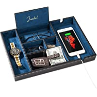 バレットトレー JIADELナイトスタンドオーガナイザー ジュエリー 鍵 腕時計 サングラス 財布 スマホ 充電ステーシ…