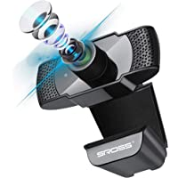 WebカメラSROSSTECウェブカメラ フルHD1080P 30FPS 200万画素90°広角 PC/USBカメラ 内…