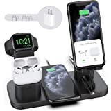 Wireless Charger Stand, CEREECOO 4 in 1 Wireless Charging Station Dock Compatible with iPhone 11/11pro/Xr/Xs/X/Max/8/8Plus/7/