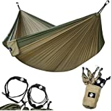 Legit Camping - Double Hammock - Lightweight Parachute Portable Hammocks for Hiking, Travel, Backpacking, Beach, Yard Gear In