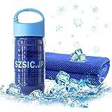 SZsic 瞬冷 冷却タオル 冷感 吸水 柔らかい コンパクト クールタオル 防臭 超速乾 スポーツアイス タオル