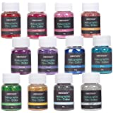 NODDWAY Ultra Fine Glitter 12 Colors Holographic Glitter Powder, Festival Glitter Shakers for Arts, Crafts, Resin,Tumblers, S