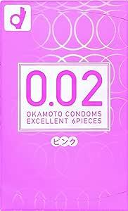 【OKAMOTO CONDOMS 0.02 EX】 オカモト コンドームズ 0.02 EX ピンク 6個入