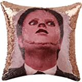 Merrycolor The Office Throw Pillow Cover Dwight Schrute Mask Sequin Pillowcase Mermaid Decorative Cushion Cover Funny Gifts 1
