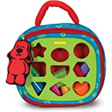 Melissa & Doug 9185 K's Kids Take-Along Shape Sorter Baby Toy With 2-Sided Activity Bag and 9 Textured Shape Blocks