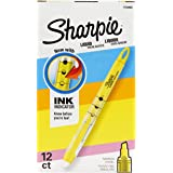 Sharpie Liquid Highlighters, Chisel Tip, Fluorescent Yellow, Box of 12