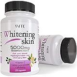 Glutathione Whitening Pills - Dark Spots & Acne Scar Remover - 5000 - Made in USA - Vegan Skin Bleaching Pills with Anti-Agin