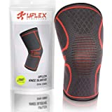 UFlex Athletics Knee Compression Sleeve Support for Running, Jogging, Sports, Joint Pain Relief, Arthritis and Injury Recover