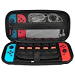 Nintendo Switch Case, CACACOL Hard Shell Game Traveler Travel Carrying Box Case for Nintendo Switch with 20 Game Cards...