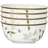 """Ciya Gold Milan 5"""" Porcelain Libi Bowl (4Pc)"""