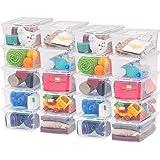 IRIS USA, Inc. 586826 CNL-5 Storage Box, 5 Quart, Clear (Pack of 20)