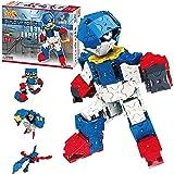 LaQ Buildup Robot Lapis - 4 Models, 310 Pieces | Build Japanese Toy Robots | STEM Robot Toy | Educational Boys Toys Age 7, 8,