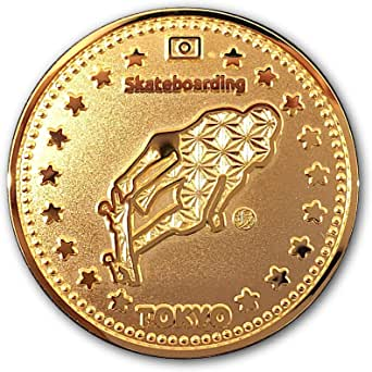 """Tokyo Sports Gold Medals""""SKATEBOARD"""" 東京 スポーツ ゴールド オリジナルコイン""""スケートボード"""" 記念メダル"""