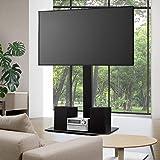 "Artiss TV Mount Stand Floor 32"" to 70"" Standing Bracket Shelf ±35° Swivel Height Adjustable Television Display Home Living Ro"
