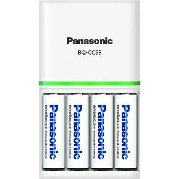 パナソニック エネループ 充電器セット 単3形充電池 4本付き スタンダードモデル K-KJ53MCC40