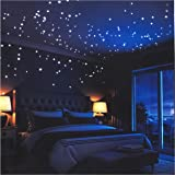 LIDERSTAR Glow In The Dark Stars Wall Stickers,252 Adhesive Dots and Moon for Starry Sky, Perfect For Kids Bedding Room or Bi