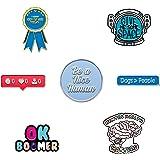 RipDesigns - 7 Introvert Enamel Pins for Backpacks Enamel Pin Set | Cute Pins for Jackets Bulk Enamel Pins Pack Funny Pins Ba