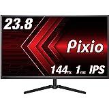 Pixio PX247 ディスプレイ モニター [ 23.8 インチ IPS 144hz (HDMI 120hz) 1920×1080 内蔵スピーカー FreeSync G-SYNC Compatible対応 ] ゲーミング モニター スリムベゼル 24 型 display monitor 【正規輸入品】
