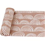 LifeTree Baby Swaddle Blankets - 70% Bamboo/30% Cotton Muslin Swaddle Blankets Unisex - Rainbow Print, Silky Soft, Lightweigh