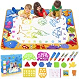 Toyk Aqua Magic Mat - Kids Painting Writing Doodle Board Toy - Color Doodle Drawing Mat Bring Magic Pens Educational Toys for