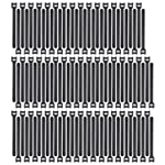 Pasow 100pcs Reusable Fastening Cable Ties Adjustable Strap Wire Management (7 Inch, Black)
