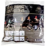 (200 Pack) - Holiday Joy - 200 All Purpose Light Holders for Outdoor Decorating