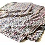 ブルーム 今治タオル 認定 リユース ストライプ 残糸使用 タオルケット 厚手 オールシーズン対応 日本製 (シングルサイズ)