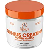 Genius Creatine Powder – Pro Post Workout Recovery Drink for Lean Muscle Gain | Creapure Monohydrate, HCL & Beta Alanine | Na