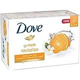 Dove go fresh Beauty Bar, Mandarin and Tiare Flower 4 oz, 4 Bar