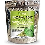 Maxx Herb Nopal 100, Green Nopal Cactus Powder (12 oz), for Healthy Digestion & Blood Sugar Balance, High in Dietary Fiber, C