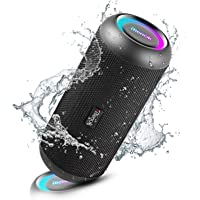 RIENOK Bluetoothスピーカー 30W IP67防塵防水 Bluetooth5.0 完全ワイヤレスステレオ対…