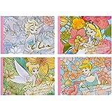 ダイゴー ディズニー ロイヤルフローラル メモ帳 A6 アリス/エルサ/ティンカー・ベル/シンデレラ 4種4冊セット