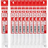 ぺんてる ボールペン替芯 エナージェル 0.5mm XLRN5-B 赤 10本