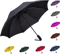 Fidus 折りたたみ傘 ワンタッチ自動開閉 日傘 逆折り式 UVカット 遮光率99% 高強度グラスファイバー8本骨 耐風撥水 晴雨兼用 レディース 旅行 アウトドア用 収納ポーチ付