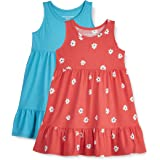 Amazon Essentials 2-Pack Girls Cotton Tiered Play Dress