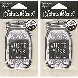 John's Blend(ジョンズブレンド) ノルコーポレーション ルームフレグランス Johns Blend エアーフレッシュナー ホワイトムスク セット 2枚セット