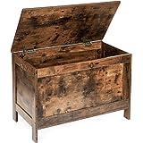 HOOBRO Storage Chest, Retro Toy Box Organizer with 2 Safety Hinge, Sturdy Entryway Storage Bench, Wood Look Accent Furniture,
