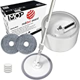 iMop Microfiber Spin Mop with Patented Bucket Water Filtration – Self Wringing Wet Dry All-In-One Spin Mop with Extra Refills