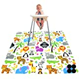 Paw Legend Washable Highchair Splat Floor Mat- Anti-Slip Silicone Spot Splash Mess Mat(130cm X 130cm)-Food Catcher Art Craft