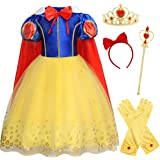 AmzBarley Princess Sofia/Aurora/Snow White/Elsa/Rapunzel Costume for Girls Halloween Fancy Party Cosplay Dress Up 1-10 Years