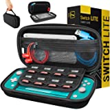 Carry Case for Nintendo Switch Lite - Portable Travel Carry Case with Storage for Switch Lite Games & Accessories [Solid Blac