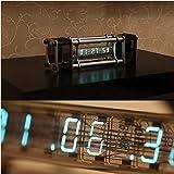 組み立て済み 完成品 レトロ サイバーパンク ソ連製VFDチューブディスプレイ アルミニウム合金 蛍光表示管の置き時計…