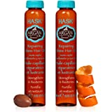 HASK ARGAN Oil Shine Oil Vials Repairing for all hair types, color safe, gluten free, sulfate free, paraben free - Pack of 2