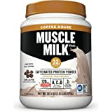 Muscle Milk Coffee House Caffeinated Protein Powder, Cafe Latte, 1.93 Pound