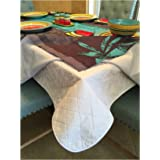 First Quality Quilted Table Protectors - Quilted Dining Table Pad With Flannel Backed For More Protection (60 in x 102 in)
