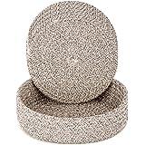 Pot Holders Trivets Set 4 Pcs and Kitchen Storage Basket 1 Pack, Cotton Trivet Mat for Hot Pots and Pans, Potholders for Hot