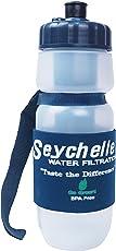 セイシェル 携帯浄水ボトル 600ml ADVANCED(高性能)フィルター採用品(放射線物質・汚染物質・ウィルス・バクテリア対応) [並行輸入品]